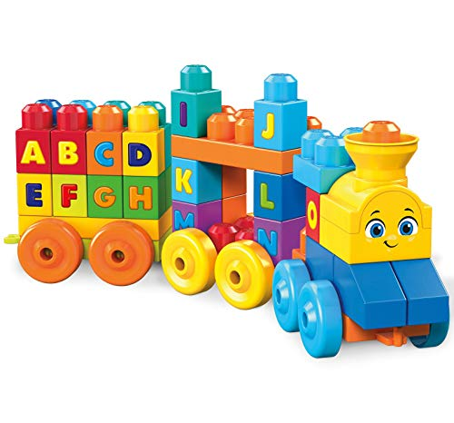 - Mega Bloks ABC Musical Train Building Set, 50 pieces