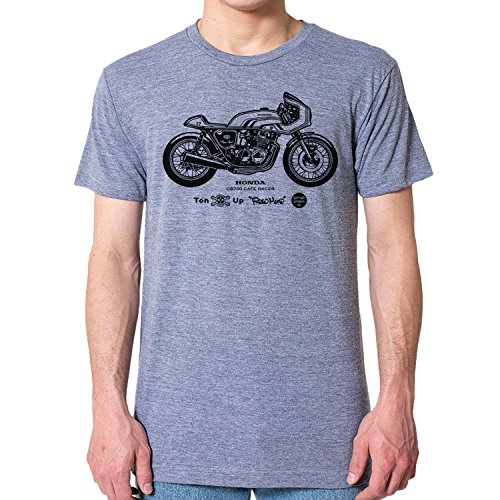 GarageProject101 Honda CB750 Cafe Racer Motorcycle T-Shirt (XXL, Athletic Gray) (Honda Motorcycle Shirts)