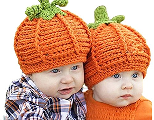 (PULAMA Baby Beanie 0-6 Months - Pumpkin Design Hat - Perfect for Halloween Baby Cap)