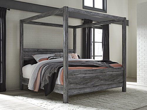 - Bayside Casual Gray King Canopy Bed