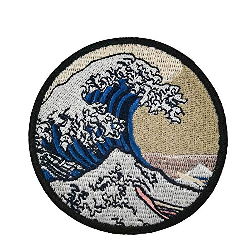 The Great Wave Off Kanagawa Embroidered Iron On Sew On Applique