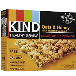 Kind Granola Bar, Oats N Honey with Coconut, 1.2-ounce Bars, 5 Bars per Box, Pack of 8 Boxes (Total 40 Bars)