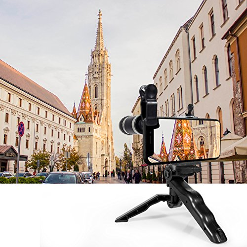 Cell Phone Camera Lens Kit by Ailuki with Professional Telephoto Lens,Wide Angle Lens+Macro Lens+Fisheye Lens, Selfie Remote Control+Tripod for iPhone Samsung Galaxy Most of Smartphone and iPad by AILUKI (Image #4)