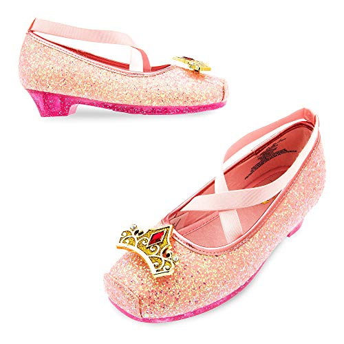 Disney Aurora Costume Shoes for Kids - Sleeping Beauty Size 9/10 YTH Pink ()