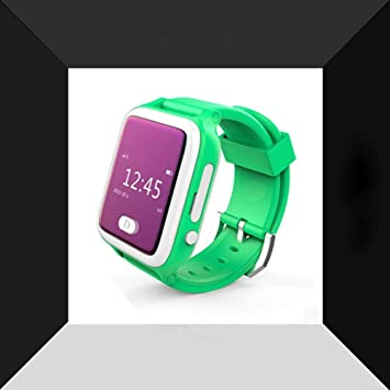 ZH Relojes Inteligentes, GPS De Posicionamiento Infantil, Relojes De Teléfono, Green,Green