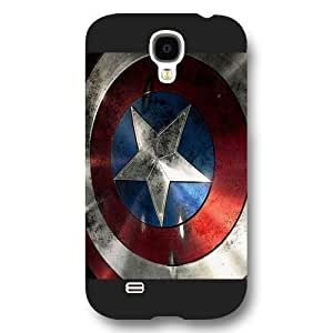 UniqueBox - Customized Personalized Black Frosted Samsung Galaxy S4 Case, Captain America Shield Samsung S4 case, Only fit Samsung Galaxy S4