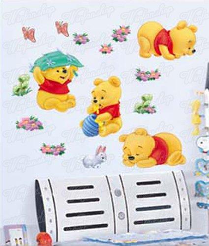 Wandaufkleber Wandtattoo Wandsticker Deko Winnie Pooh Kind Kinderzimmer  WAG-034