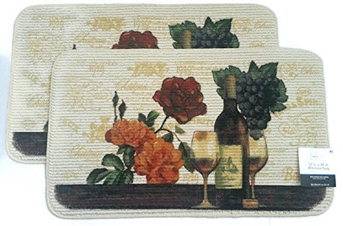 wine and grapes kitchen rugs - 8