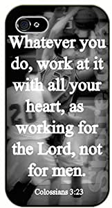 iPhone 6 Bible Verse - Whatever you do, work at it with all your heart, as working for the Lord, not for men. Colossians 3:23 - black plastic case / Verses, Inspirational and Motivational