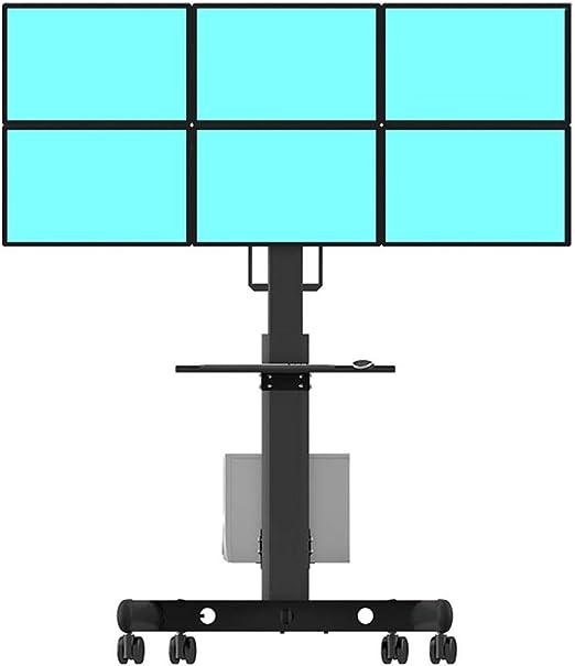 Hxx Rolling TV Stand Carrito de TV móvil para 17-24 Pulgadas de Altura Ajustable para Panel Plano Pantalla LCD Plasma LCD Dormitorio Sala de Estar Oficina de conferencias: Amazon.es: Hogar
