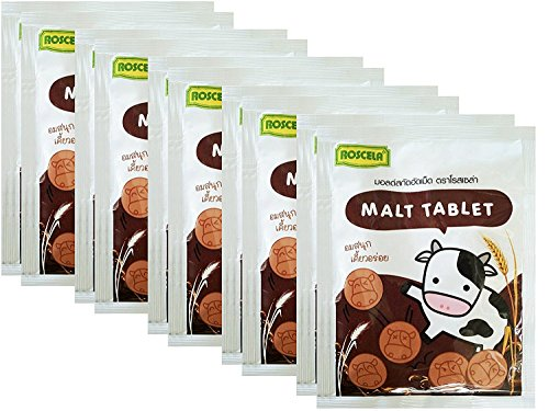 Roscela Tablet Malt Candy Thai Brand Sweetened Flavour Candy 20g,10 ()