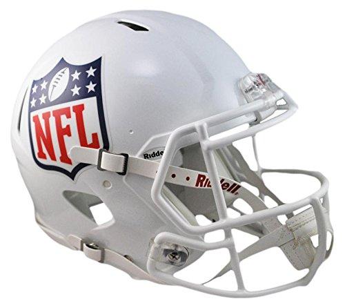 Nfl Shield Logo Helmet - Riddell NFL Full Size Replica Speed Helmet, Medium, White
