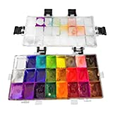 Paint Palette Box 24 Deep Wells Painting Container Airtight for Watercolors, Gouache, Acrylic and Oil Paint