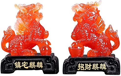 artificial Amber Carving Dragon Head Fish Body Strong Mythical Creatures Statue