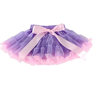 ee4b6bf981 Wennikids Little Girl's Dance Chiffon Pettiskirts Tutu Assorted Size and  Color Small Lavender/Pink