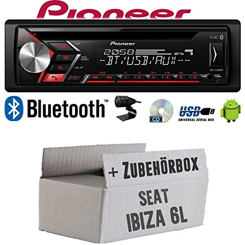 Autoradio Radio Pioneer DEH-S3000BT Android Einbauzubeh/ör CD Einbauset f/ür Seat Ibiza 6L JUST SOUND best choice for caraudio USB MP3 Bluetooth