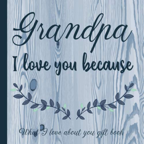 Looking for the perfect gift your Grandpa will treasure forever ?Don't look any further, this is the one!This amazing personalized Gift Book offers: • 25 prompts on the right side of the book to fill-in with Love • 25 blank pages on the left...