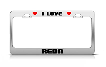 Amazon com: I LOVE REDA Boy Girl First Name License Plate