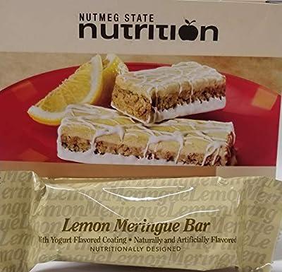 Nutmeg State Nutrition High Protein Snack Bar/Diet Bars - Lemon Meringue (7ct) - Trans Fat Free, Aspartame Free, Kosher, Gelatin Free, Appetite Suppressant