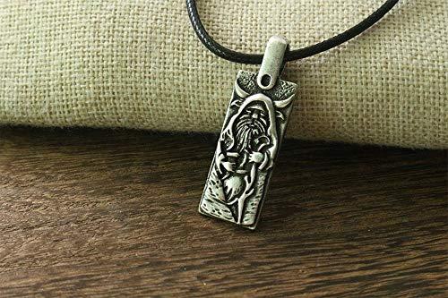 Metal Color: Antique Bronze Plated Davitu 1pcs Velez is The Slavic god of Thunder Pendant and Lightning Men Necklace Viking Talisman Charm Slavic Jewelry
