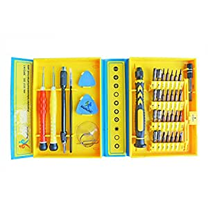 iHuniu IHN10157 Precision Screwdriver Set with Magnetic and Tweezers Pry Tool Suction Cup, 30 Bits