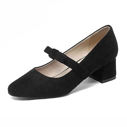 Zapatos para mujer HWF Boca Poco Profunda Zapatos de tacón Medio de Mujer de tacón Medio