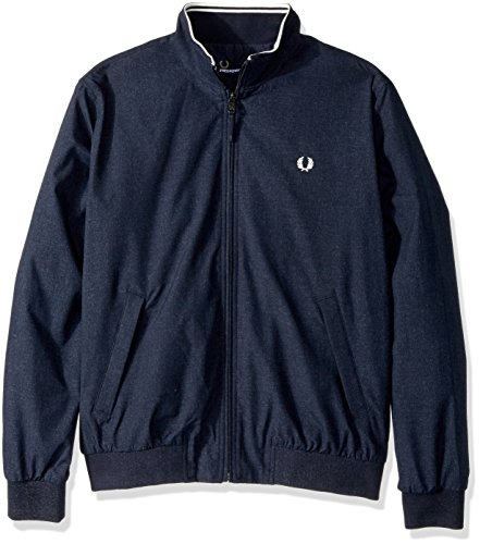 Fred Perry Men's MARL Brentham Jacket, Navy, Large by Fred Perry