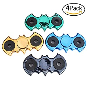 Fbsport 4 pack Batman Fidget Spinner Toys,Stress Reducer Hands Tri-Spinner Toys for Kids & Adults, Hand Toy for Relieving ADHD, Anxiety,Killing Time at Gotham City Store