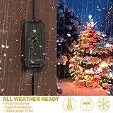 Outdoor Dimmer, Homder Smart Plug for String
