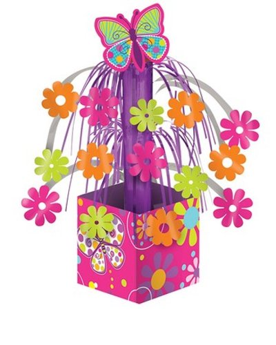 Creative Converting Butterfly Sparkle Mini Foil Cascade - Supplies Party Butterfly Birthday
