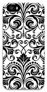 Black and white Floral Pattern Case for iPhone 4s 4s PC Material 3D(Compatible with Verizon,AT&T,Sprint,T mobile,Unlocked,Internatinal)