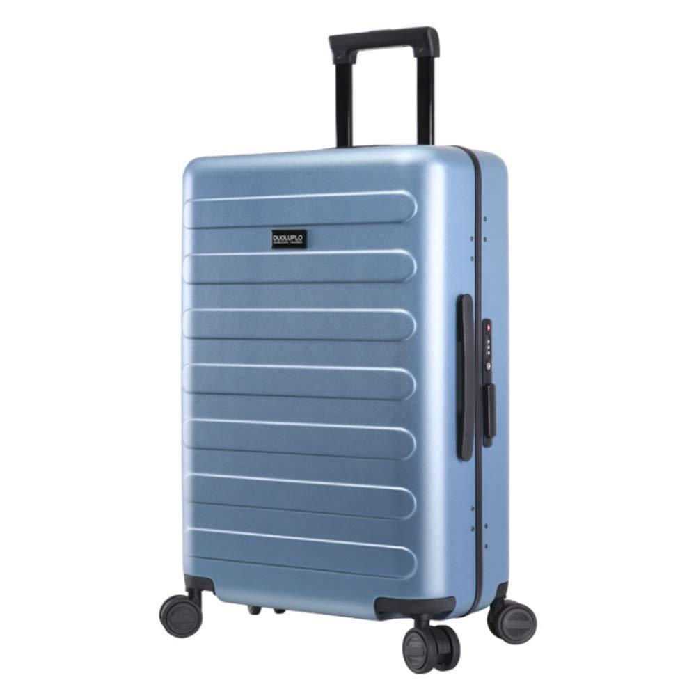 アルミフレームスピナートラベル荷物トロリーケース荷物をTSAロックで収納軽量軽量キャリーオンアップライトスーツケース360°サイレントスピナー多方向ホイール飛行機のフライトチェックイン20インチ24インチ 拡張可能な荷物 (色 : 青, サイズ : 20inches) B07V5CPF65 青 20inches