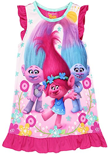 Trolls Girls Night gown Size 10, Trolls