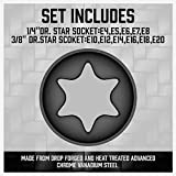 SEDY 11-Pieces Female E-TORX Star Socket Set with