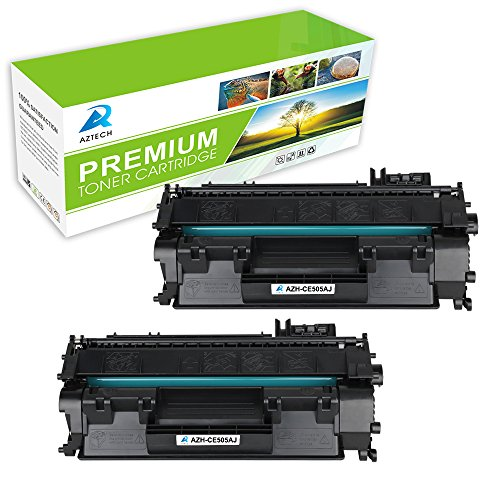 AZTECH 2 Pack Jumbo 3,500 Pages Yield Black Compatible Toner Cartridge Replaces 05A CE505A CE505 For LaserJet P2030 P2035 P2035N P2050 P2055 P2055D P2055DN P2055X (Hp 3500 Fuser Kit)