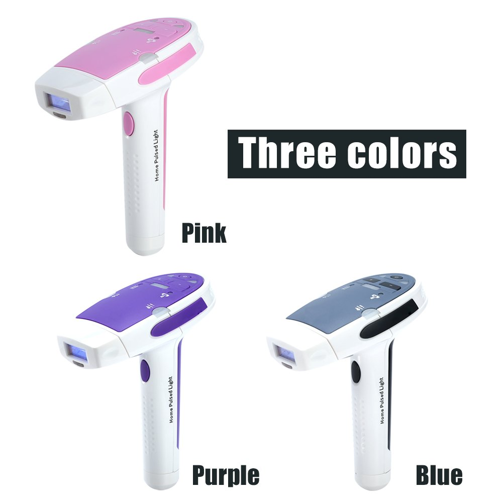 Body Hair Removal Machine, Women and Man Personal Care Tool Painless Hair Removal Device Suitable for 5 Different Skin Meet Your Depilation Needs(Purple)