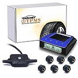 CARCHET Tire Pressure Monitoring System for RV Trailer TPMS Solar Powered + 6 External Sensors