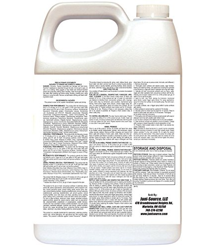 ParvoScrub II 1:256 Super Concentrate Disinfectant, Deodorant & Kennel Cleaner, 1 Gallon