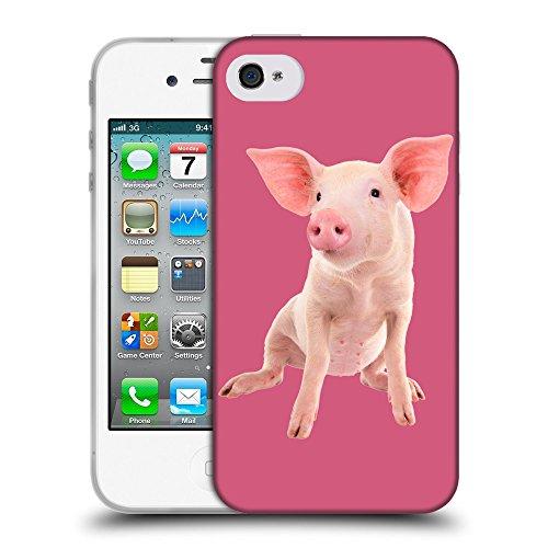 GoGoMobile Coque de Protection TPU Silicone Case pour // Q05580614 Porc bébé Arrossire // Apple iPhone 4 4S 4G