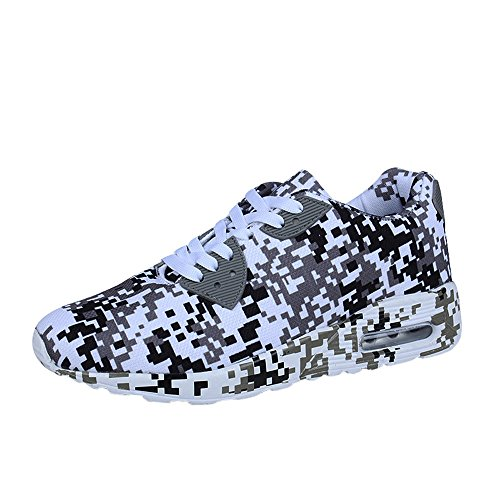 Planos Zapatillas Para Deporte Hombres Casuales Modelo Caminar Blanco Zapatos De Camuflaje FwppPZq