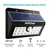 Mpow Solar Lights, 20 LED Super Bright Motion Sensor Security Lights ,Detector Street Lights with 3 Intelligent Modes