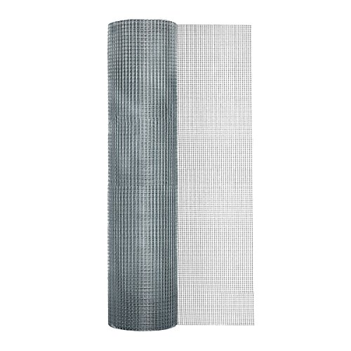 Garden Zone 48 Inches x 100 Feet - 1/4-Inch Openings 23 Gauge - Galvanized Rolled Mesh Hardware Cloth - For Fencing Around Chicken Coop, Run, and Gardens - Mesh Hardware Cloth