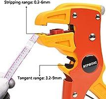 ATPWONZ Alicate Pelacables Automático Multifuncional Ajuste para Pelar Líneas de 0.2-6mm / Cortar Líneas de 3.2-9mm (Amarillo y rojo): Amazon.es: Bricolaje y herramientas