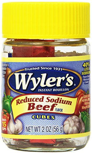 WYLER'S Instant Bouillon, Reduced Sodium Beef Cubes, 2 Ou...