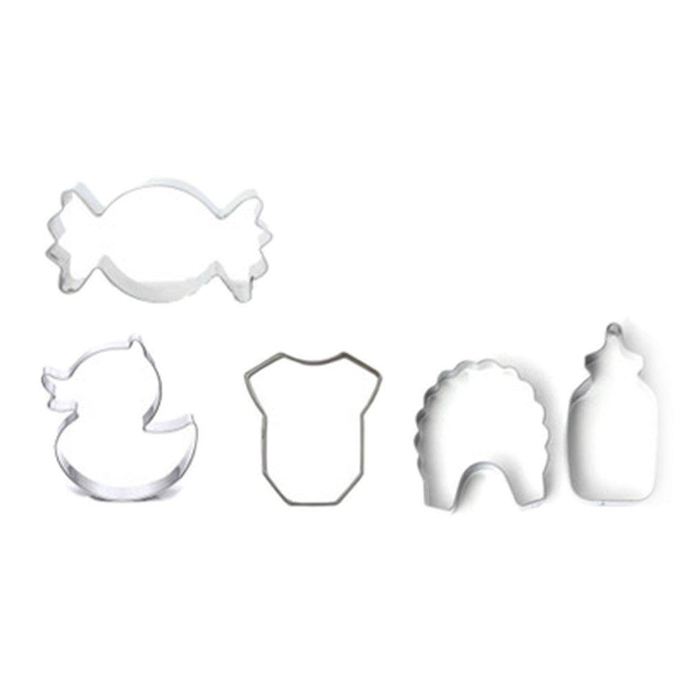 Joyfeel buy Molde Galletas Acero Inoxidable cortadores moldes para Cookie reposteria Pastel Utensilios para Hornear con Serie de bebé 5 Piezas: Amazon.es: ...