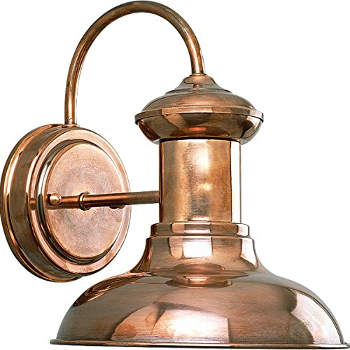 Progress Lighting P5721-14 1-Light Wall Lantern, Copper (Outdoor Sconce Copper)