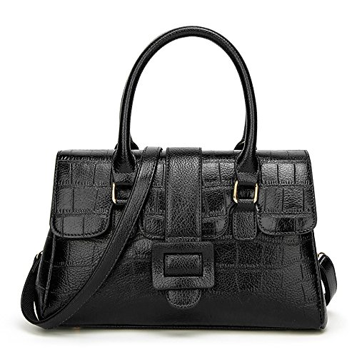 The And Shoulder Oil Europe Black Pattern States Diagonal Handbag United New Crocodile Portable Wax d5zqwXq4