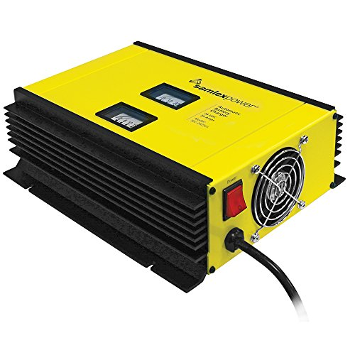 3 Charger Stage (Samlex SEC-2425UL Advanced Fully Automatic Battery Charger Power Supply, 24V, 25A, 3 Stage, Configurable AC Input Voltage, Fan Cooled Based on Output Current, Voltmeter and Ammeter for Monitoring)