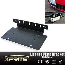 Xprite LED Work Light License Plate Mount Bracket Frame For Jeep Wrangler JK TJ LJ YJ CJ
