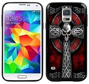 Celtic Cross Skull Handmade Samsung Galaxy S5 Black Case